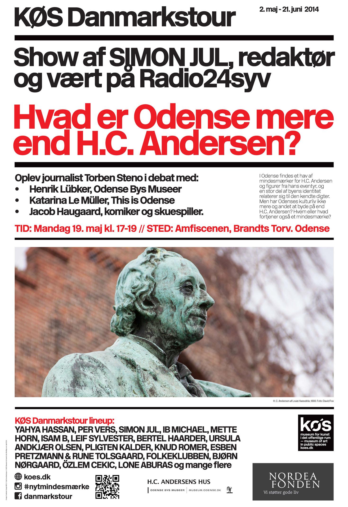 Plakat: Hvad er Odense mere end H.C. Andersen?