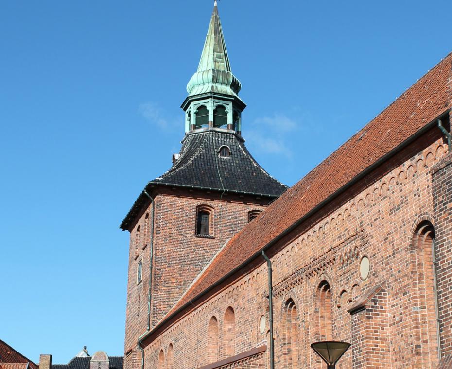 Tårn på herregården Broholm på Fyn
